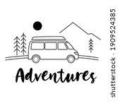 van on the roan in the... | Shutterstock .eps vector #1909524385
