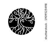life tree black glyph icon.... | Shutterstock .eps vector #1909525498