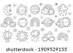 vector hand drawn celestial...   Shutterstock .eps vector #1909529155