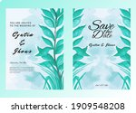 watercolor wedding stationery...   Shutterstock .eps vector #1909548208