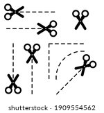 cuting scissors icon on white...   Shutterstock .eps vector #1909554562