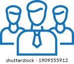 team work icon. team leader... | Shutterstock .eps vector #1909555912