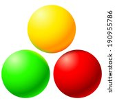 set of bright balls with color... | Shutterstock .eps vector #190955786