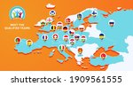 euro 2020 football championship ... | Shutterstock .eps vector #1909561555