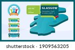 isometric scotland country map... | Shutterstock .eps vector #1909563205