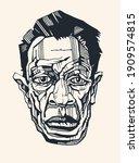 male cartoon portrait  sketch...   Shutterstock .eps vector #1909574815