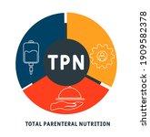 tpn   total parenteral... | Shutterstock .eps vector #1909582378