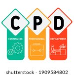 cpd   continuing professional... | Shutterstock .eps vector #1909584802