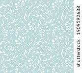 floral vector seamless pattern. ...   Shutterstock .eps vector #1909592638