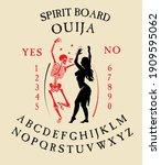 spirit board ouija with...   Shutterstock .eps vector #1909595062