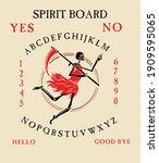spirit board ouija with... | Shutterstock .eps vector #1909595065