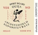 spirit board ouija with...   Shutterstock .eps vector #1909597102