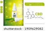 chemical formula of cbd... | Shutterstock .eps vector #1909629082
