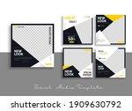 set of editable minimal square...   Shutterstock .eps vector #1909630792