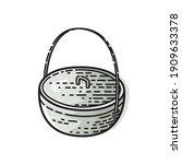 metal pot isolated on white...   Shutterstock .eps vector #1909633378