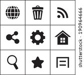 set of flat simple web icons ...