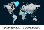 world map color vector modern.... | Shutterstock .eps vector #1909650598