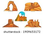 flat vector signs of usa nature ... | Shutterstock .eps vector #1909653172