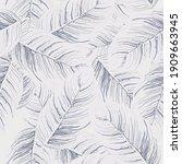 tropical leaf. modern motif....   Shutterstock .eps vector #1909663945