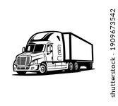 modern semi truck 18 wheeler...   Shutterstock .eps vector #1909673542