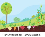 garden in spring with...   Shutterstock .eps vector #190968056