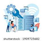 programming skills  data center ... | Shutterstock .eps vector #1909725682