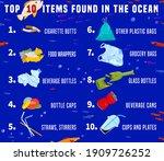 top debris items found in the... | Shutterstock .eps vector #1909726252