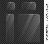 set of transparent glasses...   Shutterstock .eps vector #1909735135