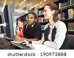 young university students... | Shutterstock . vector #190973888