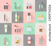 set of flat beauty and makeup... | Shutterstock .eps vector #190974326