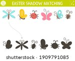 easter shadow matching activity ... | Shutterstock .eps vector #1909791085