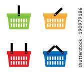 shopping basket icons set....   Shutterstock .eps vector #190979186