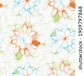 watercolor flower motif...   Shutterstock . vector #1909797868