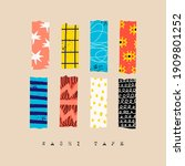 washi tape. various colorful... | Shutterstock .eps vector #1909801252