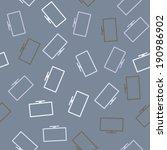 seamless background  monitor | Shutterstock .eps vector #190986902