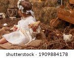 A Happy Little Girl In A Dress...