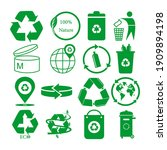flat icon set for green eco... | Shutterstock .eps vector #1909894198