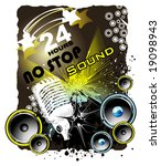 vector grunge music event banner | Shutterstock .eps vector #19098943