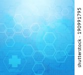 abstract molecules medical... | Shutterstock . vector #190991795