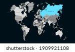 world map color vector modern.... | Shutterstock .eps vector #1909921108