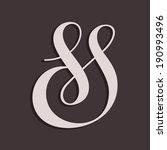 Custom decorative ampersand. Vector illustration