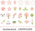 sakura blooming spring... | Shutterstock .eps vector #1909941505