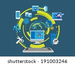 concept of web designing and... | Shutterstock .eps vector #191003246