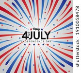 independence day of usa. 4th... | Shutterstock .eps vector #1910058478