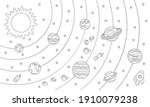 big coloring page with planets... | Shutterstock .eps vector #1910079238