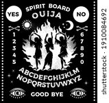 ouija boards with witches...   Shutterstock .eps vector #1910084692