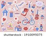 valentine illustration vector... | Shutterstock .eps vector #1910095075