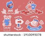 valentine illustration vector... | Shutterstock .eps vector #1910095078