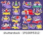 party label vector logo for... | Shutterstock .eps vector #1910095312