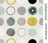 hand drawn round decor abstract ...   Shutterstock .eps vector #1910109655